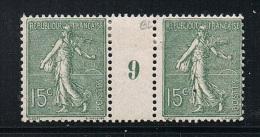 FRANCE N°130 N* En Paire Millésimée 9 (1919) Type 4