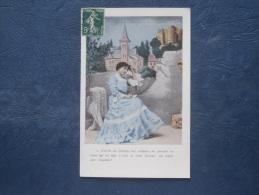 Femme écrivant Une Lettre - C'est Là Où S'écoula Son Enfance... N° 3 - Circulée 1907 - L158 - Donne
