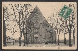 DF / 18 CHER / LE CHÂTELET / L' EGLISE DE PUY-FERRAND, FAÇADE / CIRCULÉE EN 1908 - Autres Communes
