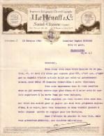 LOIRE - SAINT ETIENNE - IMPRIMERIE - LITHOGRAPHIE , CHROMOLITHOGRAPHIE - J. LE HENAFF & CIE - LETTRE - 1926 - Imprimerie & Papeterie