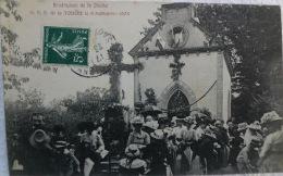 71 CPA ANZY LE DUC 1908 BENEDICTION DE LA CLOCHE CHAPELLE NOTRE DAME DE LA TOUCHE - Other Municipalities
