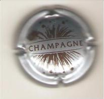 CAPSULE DE MUSELET CHAMPAGNE GENERIQUE  (marron Sur Gris Bleu) - Champagnerdeckel