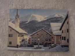 Svizzera - Zuoz - Hotel Crush Alva - Alberghi Ristoranti - Paesaggio Con Neve Animata - GR Grisons