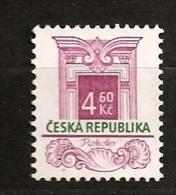 République Tchèque 1997 N° 137 ** Courant, Style Architectural, Architecture, Fenêtre Rococo - Czech Republic