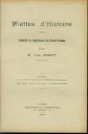 Imp Lesbordes TARBES  Formation Du Département Des HAUTES PYRENEES Par Louis SCHMITT 1930 - Livres, BD, Revues