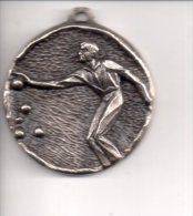 REF 1  : Médaille Métal Pétanque Joueur De Boulles 1981 2ème Modèle - Francia