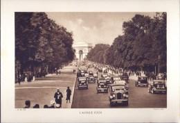 Photogravure De 1933 - Paris, L'avenue Foch - - Photographie