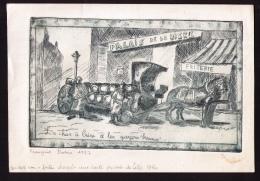 Véritable Eau-forte Signée Françoise Dubois, 1987, Le Char à Bière Et Les Garçons « Brasseux », Lille, Nord - Non Classificati