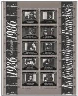 France - Carnet N° 2433 à 2442 - BF N° 9 - Cinquantenaire Cinémathèque - Blocs Souvenir