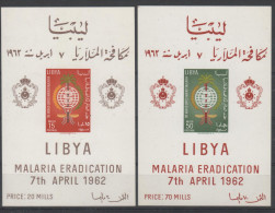 Libya. Malaria Eradication. MNH SS-s With Small Spots On Gum. SCV = 34.00 - Libya
