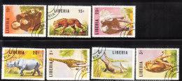 Liberia 1966 Animals 7v Used - Liberia