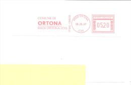 ITALIA - 2007 Comune Di ORTONA (CH) - Affrancatura Meccanica Rossa Red Meter - Machine Stamps (ATM)
