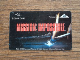 MISSION IMPOSSIBLE Belgacom 1996 Telecard 20 ! - Belgique