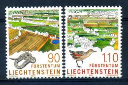 Liechtenstein 1999 / Birds Snakes Nature Europa CEPT MNH Naturaleza Aves Serpientes / Ip25   1 - Pájaros