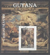 Guyana 1989 Paintings, Christmas, Perf. Sheet, Used T.157 - Guyana (1966-...)