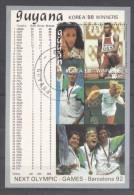 Guyana 1989 Sport, Olympics, Perf. Sheet, Used T.164 - Guyana (1966-...)