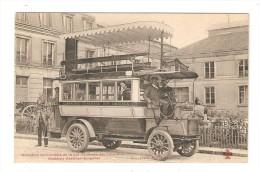 CPA  - Omnibus Automobile Cie Générale Omnibus  - Système Gardner - Serpollet : Omnibus 2 étages + Animation - Bus & Autocars
