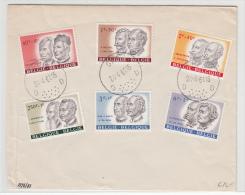 BELGIUM USED COVER 24/04/1961 COB 1176/81 SPA - Lettres & Documents
