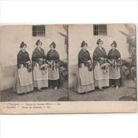 COSTP0640-LFTP4344TFV.Spain. Espagne.Tarjeta Postal Costumbrista.ESTEREOSCOPICA.TIPOS DE  MUJERES - Costumi