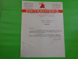 Courrier Ets Poivrochinois Produits D´outre Mer Courbevoie Importation Chine Annam Tonkin Indes Madagascar - France