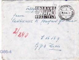 Feldpost WW2: To Ploesti, Romania Stab Flakscheinwerfer-Abteilun G 240 (v) FP L16169 LGPA Wien Posted Stuttgart 11.1.194 - Militaria