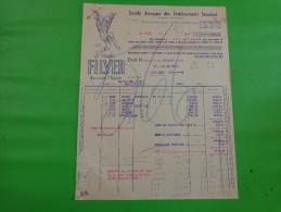 Facture Sa Des Ets Standard A St Etienne Bretelle Filver Caressant L'epaule - France