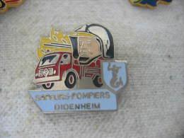 Pin´s Des Sapeurs Pompiers De DIDENHEIM (Dépt 68) - Bomberos