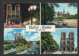 DF / 75 PARIS / NOTRE-DAME DE PARIS / MULTIVUES / CIRCULÉE EN 1966 - Notre Dame De Paris