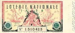 BILLET DE LOTERIE NATIONALE 1938 ONZIEME TRANCHE - Billets De Loterie