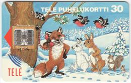 FINLAND A-264 Chip Tele - Cartoon, Communication, Telephone, Animals - used