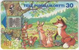FINLAND A-265 Chip Tele - Cartoon, Communication, Telephone, Animals - used