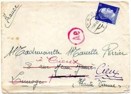 87 - CIEUX - LETTRE A MLLE MARCELLE PERRIER - DEUTSCHES REICH HITLER 25 - WIEN 1943 - Non Classés