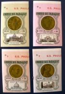 PARAGUAY Monnaie, Coins, Michel N° 1388/91 Non Dentelé. Neuf Sans Charniere. MNH Imperforate - Coins