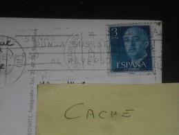 LETTRE ESPAGNE ESPANA AVEC YT 866 - FRANCO - CPSM MALLORCA - ROCA FORADADA - - 1951-60 Lettres