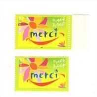 Timbre Merci Sans Le Noir YT 3379 A . Superbe ,  Signé Calves , Voir Le Scan . Cote YT : 110 € , Maury N° 3358 A : 125 € - Plaatfouten En Curiosa