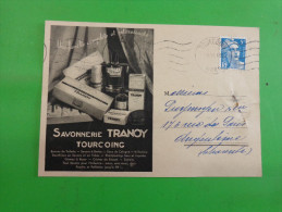 Releve De Facture Sur Carte Postale Savonnerie Tranoy Tourcoing- - Francia