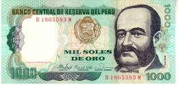 Peru P.122  1000 Soles 1981  Unc - Perú