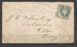 Grande-Bretagne - CB112 - Entier Postal De Scarborough Vers Bury Du 29/08/02 - Stamped Stationery, Airletters & Aerogrammes
