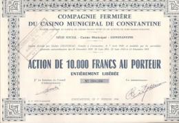 COMPAGNIE FERMIERE DU CASINO MUNICIPAL DE CONSTANTINE - LOT DE 5 ACTIONS - Casino