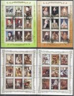 Korea 1984 History Of Europe, 6 Perf. Sheetlet, Used T.255 - Corea Del Norte