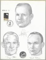 APOLLO 11 - Manned Flight Awareness Sheet - KSC 7-16-69 Cancel -Black NASA-KSC Cachet- Scrace - Briefe U. Dokumente