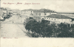 ARONA (NO) - STAZIONE FERROVIARIA - F/P - N/V - I - Novara