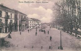 NIZZA MONFERRATO (AT) - PIAZZA STAZIONE - F/P - N/V - ANIMATA - Asti