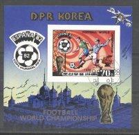 Korea 1981 Sport, Soccer, Football, Imperf. Sheet, Used T.293 - Korea, North