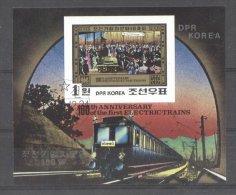 Korea 1980 Trains, Imperf. Sheet, Used T.303 - Corea Del Nord