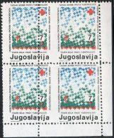 YUGOSLAVIA - JUGOSLAVIA - ERROR In Bl.of 4 - TBC TAX - RED CROSS - Mis. PERF - **MNH - 1986 - Segnatasse