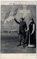 Infirmière Croix Rouge Et Poilu Retour Sur Le Front Poeme Guglielmi 1915 état Superbe - Croce Rossa
