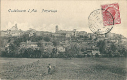 CASTELNUOVO D'ASTI (AT) - PANORAMA - F/P - V: 1913 - Asti