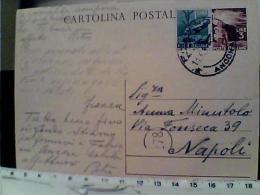 Intero Cartolina Postale - Repubblica Italiana - Lire 3 Democratica + FrancobollO 1 L DA ANCONA X NAPOLI  1947 EK6893 - 1946-.. Republiek