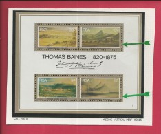 SOUTH AFRICA, 1975, MNH, Block Nr. 3, Thomas Bains ,Mi  472-475, F 3795 (missing Perforations) - South Africa (1961-...)